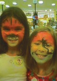 Tiger Tropical Face painting